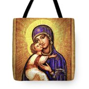 Icon Madonna And Infant Jesus Tote Bag