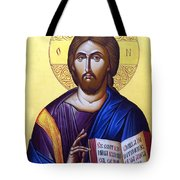 Icon Of Christ In Jericho Tote Bag