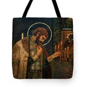 Icon Of Reverend Prince Alexander Nevsky. Saint Petersburg Tote Bag