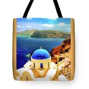Iconic Anastaseos Oia Santorini Greece Tote Bag