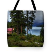 Iconic Maligne Lake And Boat House II Tote Bag
