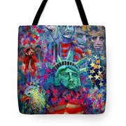 Icons Of Freedom Tote Bag