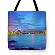 Icons Of Sydney Harbour Tote Bag