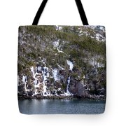 Icy Cliff In Winter Tote Bag
