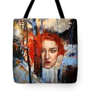 Icy Fire Tote Bag