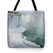 Icy Fury - Niagara Falls Spectacular Ice Buildup Tote Bag