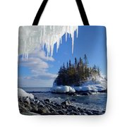 Icy Island View Tote Bag