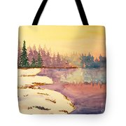 Icy Lake Tote Bag