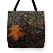 Icy Leaf Tote Bag