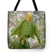 Icy Leaves Tote Bag