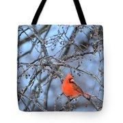Icy Red Tote Bag
