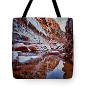 Icy Stillness Tote Bag