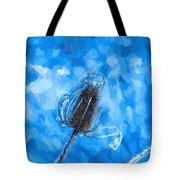 Icy Thistle Plant Tote Bag