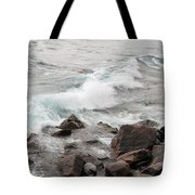 Icy Waves Tote Bag