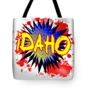 Idaho Comic Exclamation Tote Bag