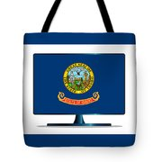Idaho Flag Tv Tote Bag