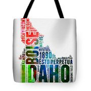 Idaho Watercolor Word Cloud  Tote Bag