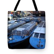 Idle Tour Boats -- Amsterdam In November Tote Bag