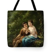 Idyll In The Forest Interior Tote Bag