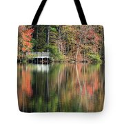 Idyllic Autumn Reflections Tote Bag