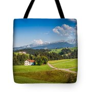 Idyllic Landscape In The Alps, Appenzellerland, Switzerland Tote Bag