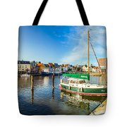 Idyllic North Sea Town Of Husum Tote Bag