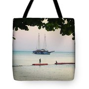 Idyllic Setting To Idle The Time Away Tote Bag