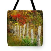 If I Could Paint No 1 - New England Fall Fence Tote Bag