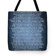If Poem Blue Canvas Tote Bag