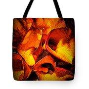 If Van Gogh Painted Calla Lilies Tote Bag