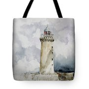 ighthouse Kereon Ouessant island Britain Tote Bag