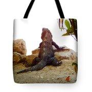 Iguana Watchout Tote Bag