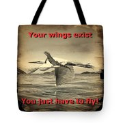 Iguana With Wings Tote Bag