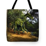 Iguanodon In The Jungle Tote Bag