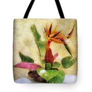 Ikebana Bird Of Paradise Tote Bag