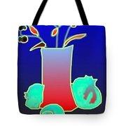 Ikibana On Blue Tote Bag