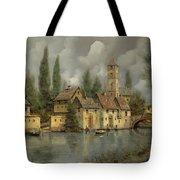 Il Borgo Sul Fiume Tote Bag