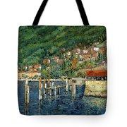 il porto di Bellano Tote Bag by Guido Borelli