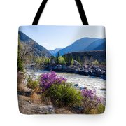 Ilgumensky Rapids At Spring Time. Altay Mountains Tote Bag
