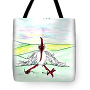 I'll Never Fly Again Tote Bag