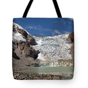 Illampu Glacier Lake Or Laguna Glacial Tote Bag