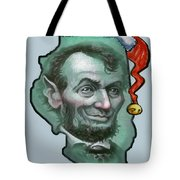 Illinois Christmas Tote Bag
