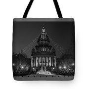 Illinois State Capitol B W Tote Bag