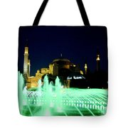 Illuminated Fountain Of Istanbul Tote Bag