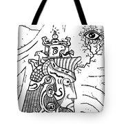Surrealism Illuminati Black And White Tote Bag