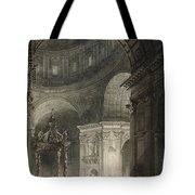 Illumination Of The Cross In St. Peter's On Good Friday, 1787 Tote Bag