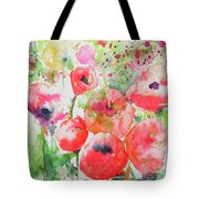 Illusions Of Poppies Tote Bag