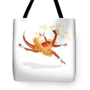 Illustration Of A Ballerina Dancing Tote Bag