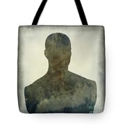 Illustration Of A Human Bust. Silhouette Tote Bag