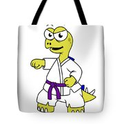 Illustration Of A Stegosaurus Tote Bag by Stocktrek Images